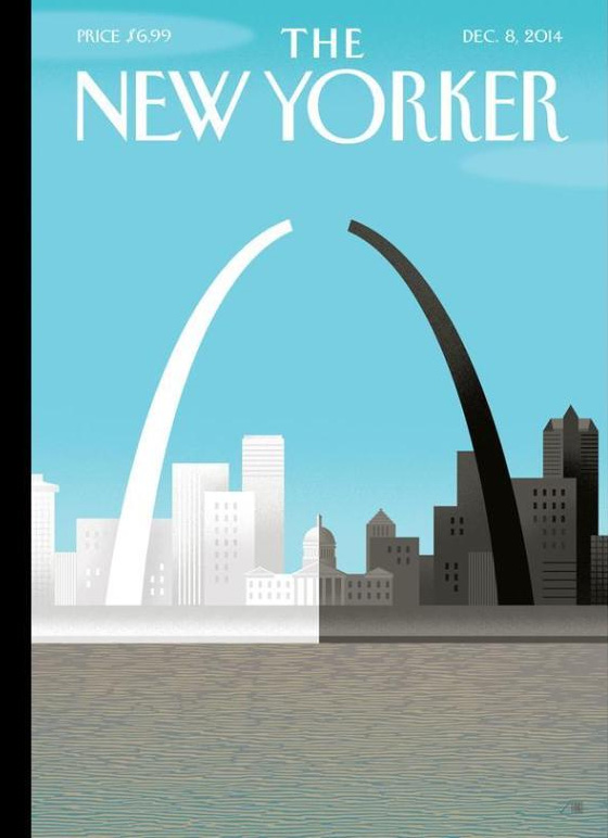 broken arch bob staake cover for the new yorker magazine